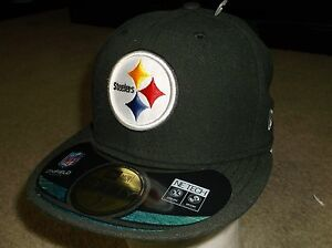 Pittsburgh Steelers New Era 59 Fifty Fitted hat - size 6 3/8 nwt Free Shipping
