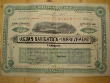 Rare Vintage Aguan Navigation and Improvement Company