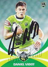 ✺Signed✺ 2011 CANBERRA RAIDERS NRL Card DANIEL VIDOT Daily Telegraph