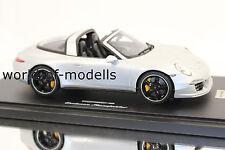 Gt Spirit wax02100011 Porsche 911 991 Targa 4s plata metálica 1:18 Exclusive
