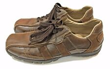 GH Bass Nelson Brown Leather Lace Walking Sneakers Oxfords Shoes Men's Sz 7 M