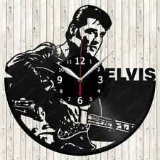 Elvis Music Vinyl Record Wall Clock Decor Handmade 1886