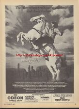 Legend Of The Lone Ranger Cinema 1981 Magazine Advert #2033