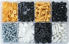 Assorted Box of Number Plate Fasteners (Bolt Screws Flip-Caps) QTY 300prs AT86