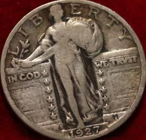 1927-S San Francisco Mint Silver Standing Liberty Quarter