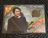 The Walking Dead Survival Box TOPPS Authentic Shirt Relic Card- Glenn Rhee 86/99