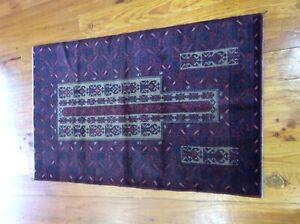 Fantastic Handmade Knotted Pure Wool Afghan Baluchi  Tribal rug
