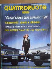 QUATTRORUOTE n°445 1992 - MAZDA RX-7 Test Peugeot 106 Fiat Tempra SW 4x4 [P35]