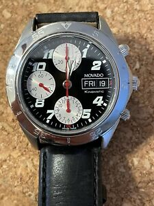 Rare Movado  Kingmatic Chronograph Automatic  Day Date, Used VG Condition