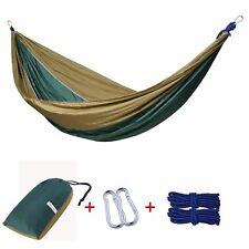 2 Person Parachute Nylon Hammock Outdoor Travel Camping Swing Hanging Bed UK