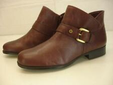 Naturalizer Jarrett Women's 8.5 W Wide Oxblood Buckle Bootie Ankle Boots Comfort