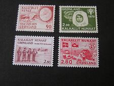 GREENLAND, SCOTT # 100+111+158+164(4), COMPLETE SINGLE SETS 1983-86 ISSUES MNH