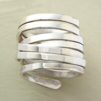 New Large 925 Silver Wrap Around Ring Wedding Engagement Jewelry Gifts Size 6-10