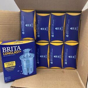 Brita Longlast+ Water Replacement Filters (8) 2 Pack Boxes (16 Filters) Lot Bulk