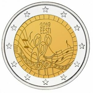 2 Euro Estonia 2019 - Festival of the Song of Estonia UNC From Bank Roll
