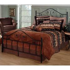 Panel Bed Premium Metal Frame Fully Welded Textured Black Finish King Size