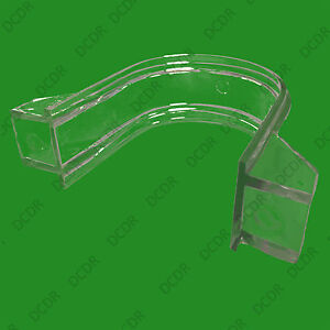 2x Clear Plastic LED Tube Support Clips for 1m Strip Light Lamp, Strain Relief