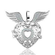 Silver Wings Mexican Bola Harmony Ball Angel Caller 18mm Locket Cage Pendant