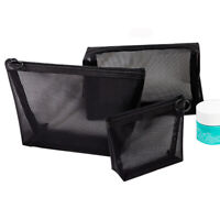 Zipper Handbags Cosmetic Pouch Travel Organizer Mesh Package Makeup Bags