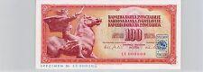 YOUGOSLAVIE SPECIMEN 100 DINARA 1.VIII.1965 PICK 80 S !!!