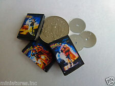 """3 DOLLS HOUSE MINIATURE DVD's """"BACK to the FUTURE TRILOGY"""" Handmade 1:12th scale"""