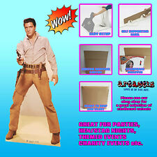 ELVIS GUNFIGHT LIFESIZE CARDBOARD CUTOUT STANDEE STANDUP FIGURE-189CM TALL SC572