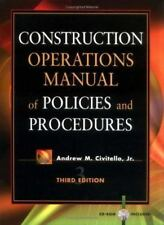 Construction Operations Manual of Policies and Procedures by Civitello, Andrew