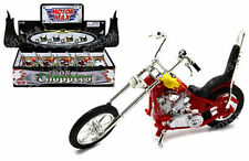 MOTOR MAX 1:18 DISPLAY IRON CHOPPERS WITH BACKREST SEAT DIE-CAST MC-55969