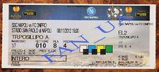 Ticket bigliet Dnipro Ukraine - SSC Napoli Naples Italy 2012/2013 Europa League
