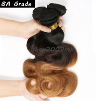 8A Brazilian 100% Real Ombre 1B/4/27 Body Wave Human Hair Extentions 3Tone Weave