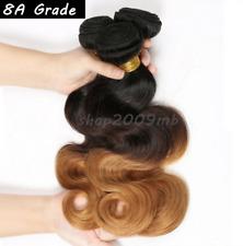 8 A brésilien 100% Véritable ombre 1B/4/27 Body Wave Human Hair Extension 3 Tone Tissage