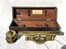 More details for cased 19th century surveyors brass level by macrae
