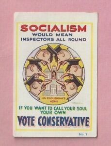 National Union of Conservative, Socialism, Miniature poster trade card