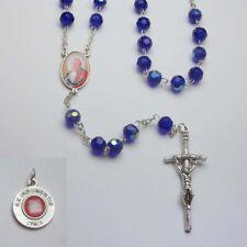 NEW - POPE JOHN XXIII - Crystal Rosary - Blue
