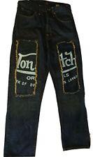 Mens Vintage Von Dutch Jeans Biker Goth Worn Out Size 32