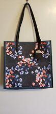 Nanette Lepore Athena Vegan Leather Winter Floral Handbag Tote Purse Shoulder