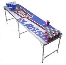 Beer Pong Tisch Set - Logo Table - Silver Line inkl. 50 Becher, 6 Bälle & Halter