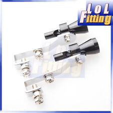 2PCS Universal Turbo Sound Exhaust Whistle/Fake Blowoff BOV Simulator Black E