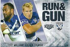 2016 NRL Elite Run & Gun (RG 6 / 32) Tony WILLIAMS / Aiden TOLMAN Bulldogs