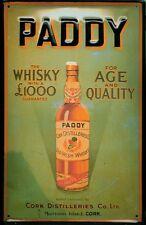 Lamiera SCUDO Paddy Irish Whisky (1) Age quality Cork Distilleries Irlanda SCUDO