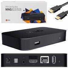 Mag 322/323 Genuino Original De Infomir linux IPTV/OTT/HEVC Caja