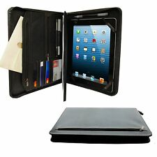 Apple iPad 2 3 4 Case Cover Khomo PadFolio Black Notepad Holder And Pockets