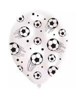 6 FOOTBALL BALLOONS CHILDREN'S  BIRTHDAY PARTY DECORATIONS SOCCER LATEX CHILDREN