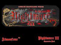 Nightmare 3 III Video Board Game Video Tape VCR VHS DVD Anne de Chantraine