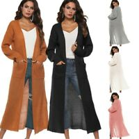 Women's Full Length Maxi Cardigan Duster Long Sleeve Open Front Sweater Coat