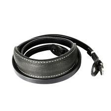 Black CANPIS Extra long Leather Camera Shoulder Neck Strap with shoulder support