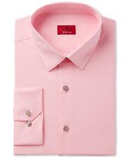 NWT $93 ALFANI Men SLIM-FIT STRETCH PINK LONG-SLEEVE DRESS SHIRT 15-15.5 34/35 M