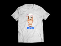 """Bluey Mum Chilli T-Shirt Funny Birthday Cotton Tee Vintage Gift For Men Women """
