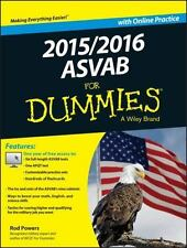 2015 / 2016 ASVAB for Dummies with Online Practice by Rod Powers (2015,...
