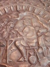 """RARE ANTIQUE 24"""" COPPER WALL CHARGER"""